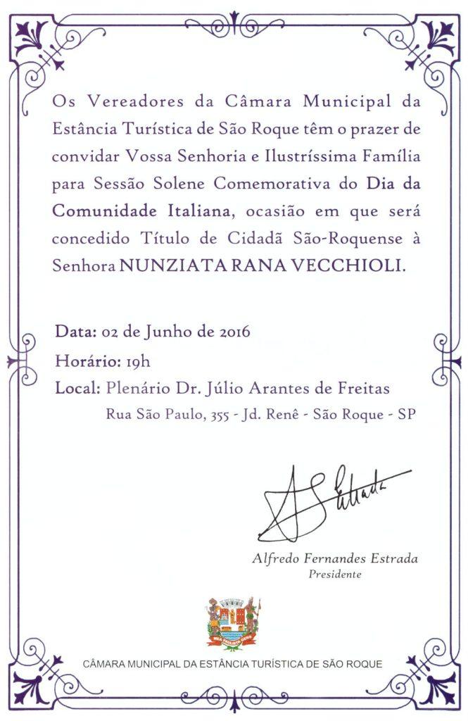 Convite Comunidade Italiana 02